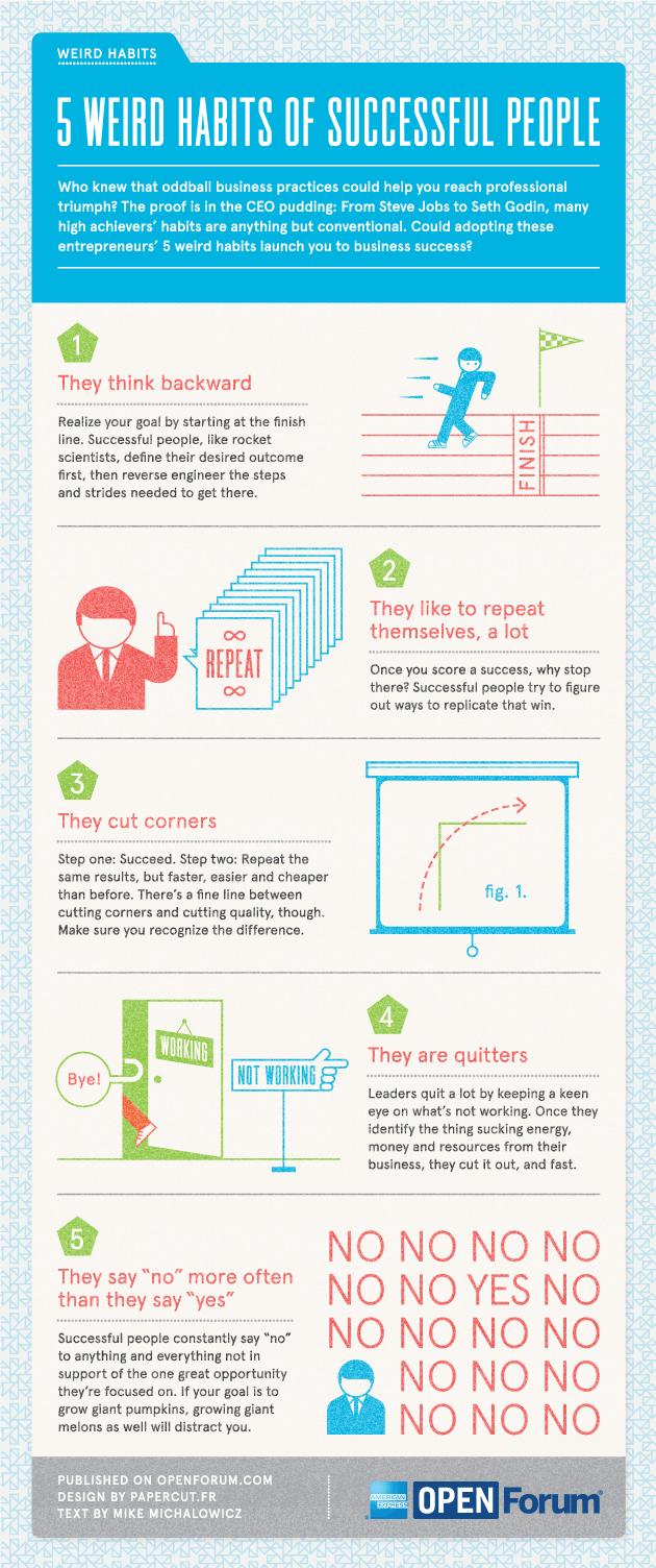 5 strange habits of successful people