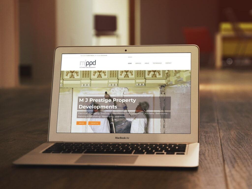 North Walsham website design for MJPPD