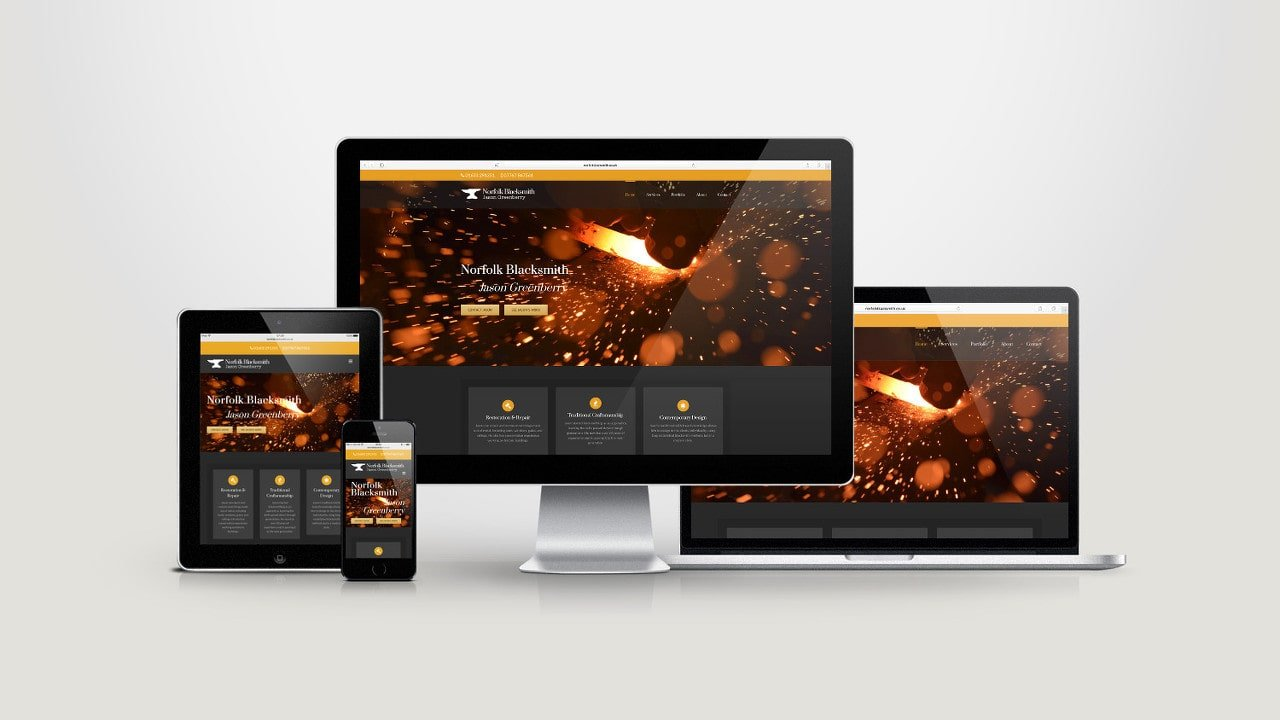 Norfolk Blacksmith Responsive Website