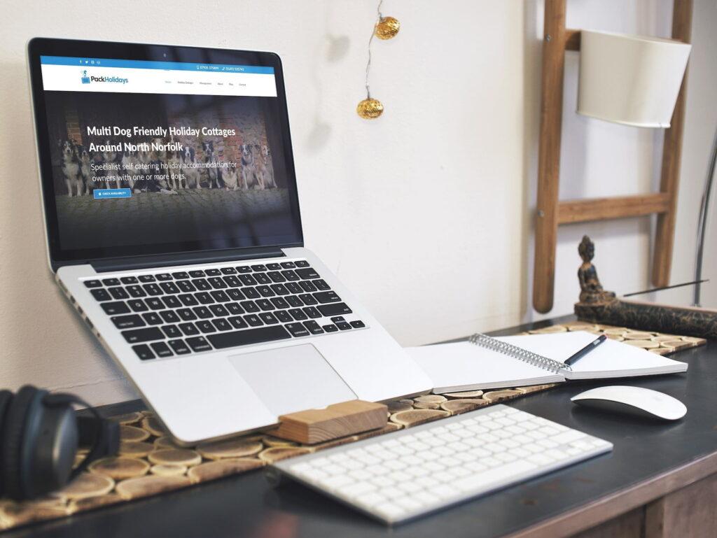WordPress Website for Norfolk Holiday Cottage business Pack Holidays