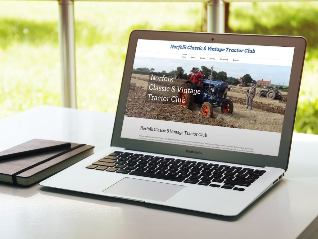 North Walsham WordPress website design for NCVTC
