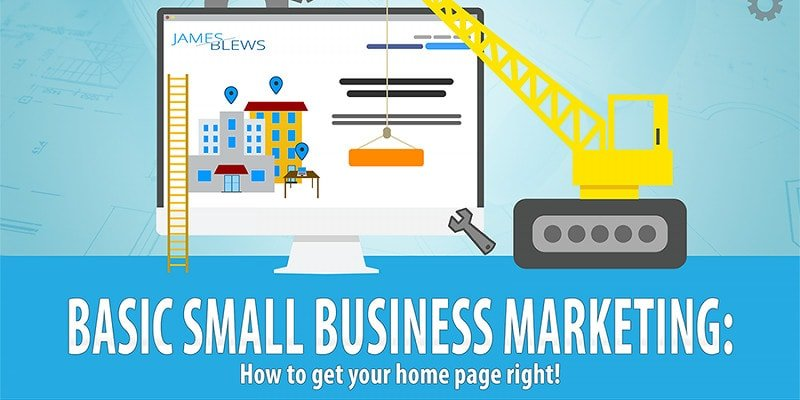 Home page design for small businesses
