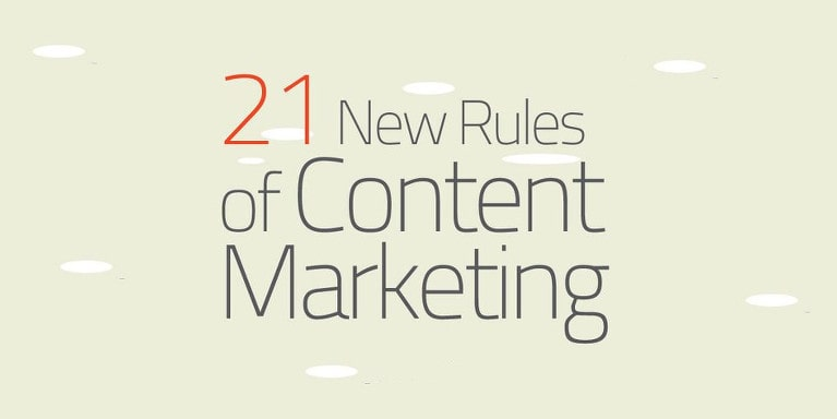 21 Rules for Content Marketing