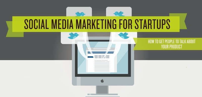 Startups guide to social media infographic