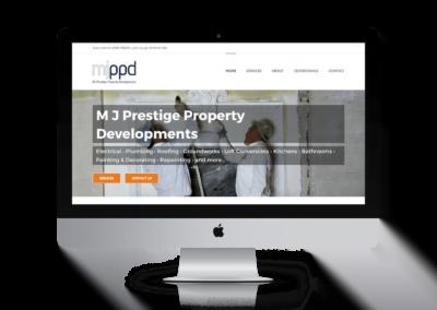 WordPress website design for North Walsham builders MJPPD