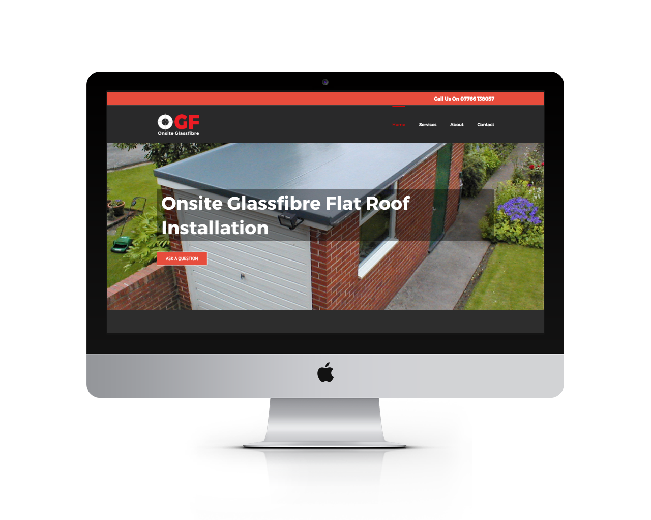 Responsive wordpress web design for Onsite Glass Fibre