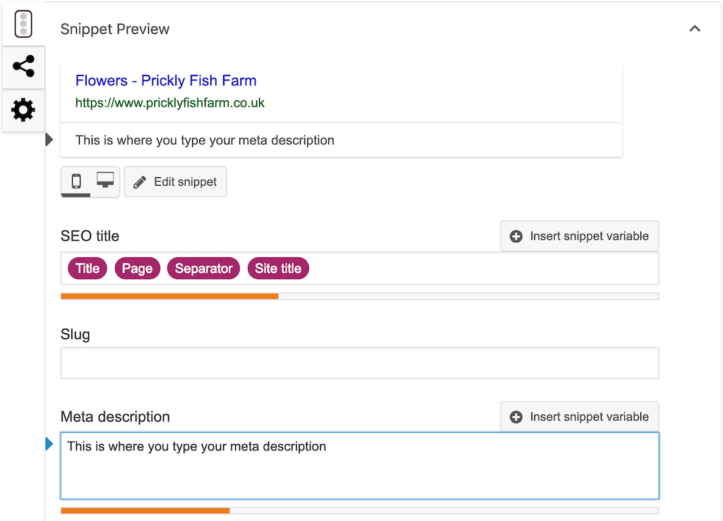 Adding a meta description with Yoast