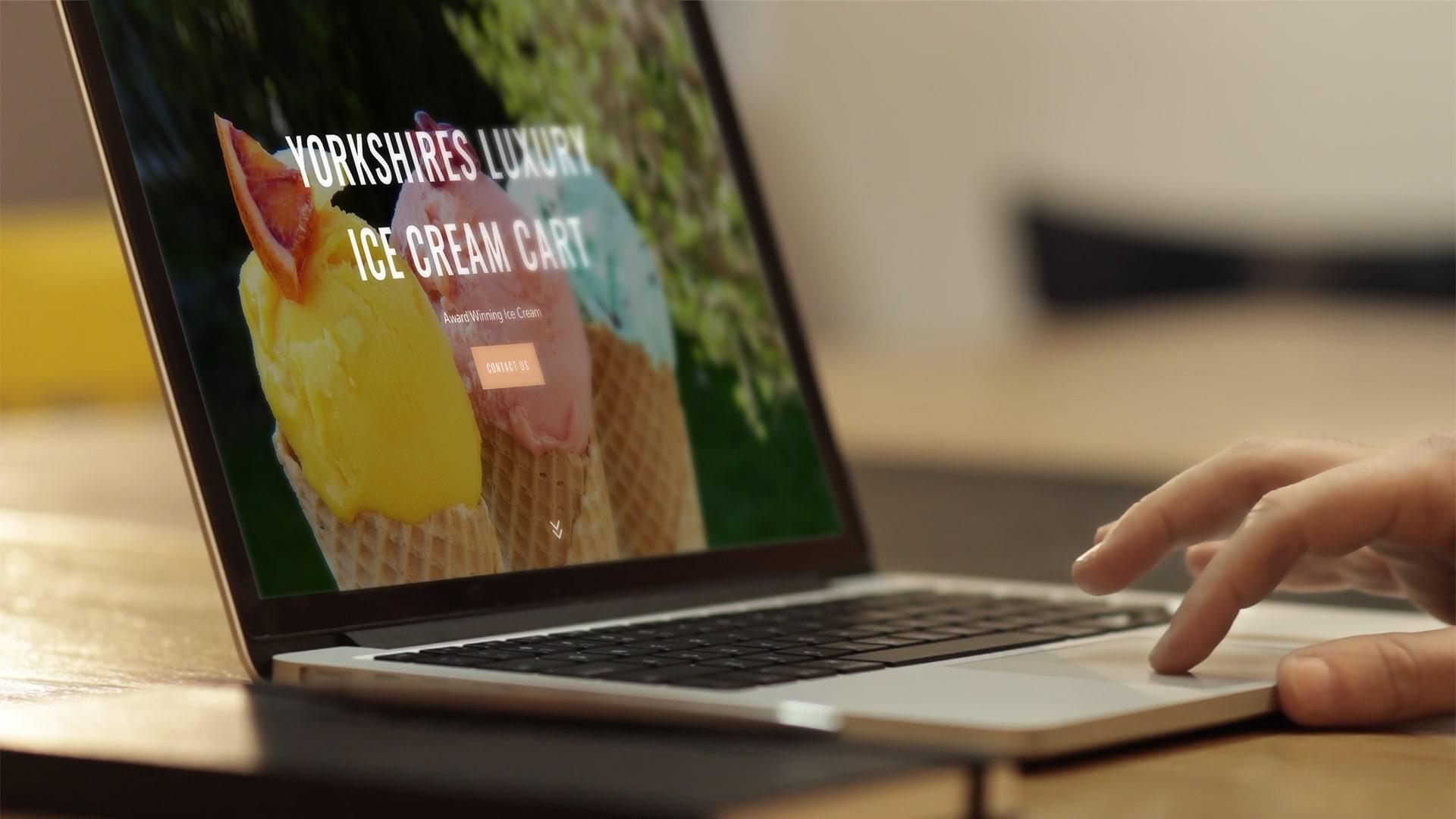 Yorkshire's Luxury Ice Cream Cart WordPress Website
