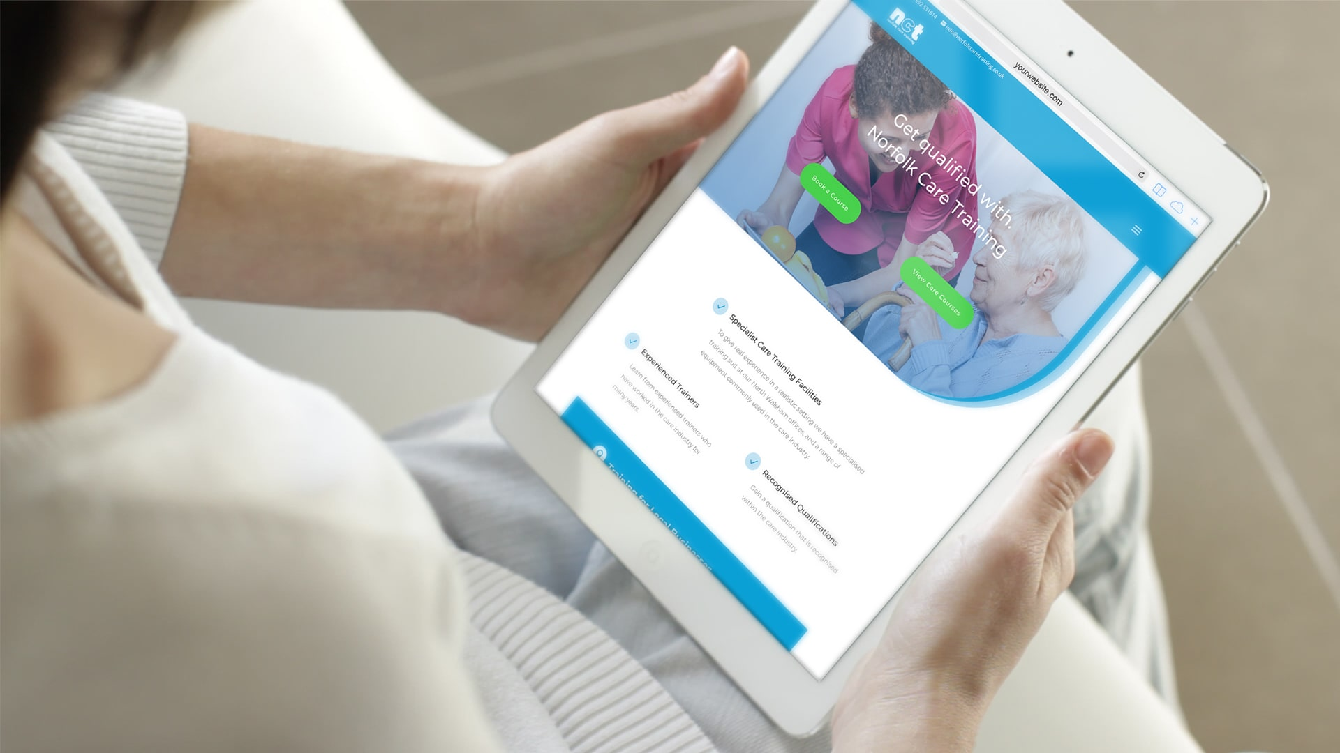 Norfolk Care Training Mobile Website