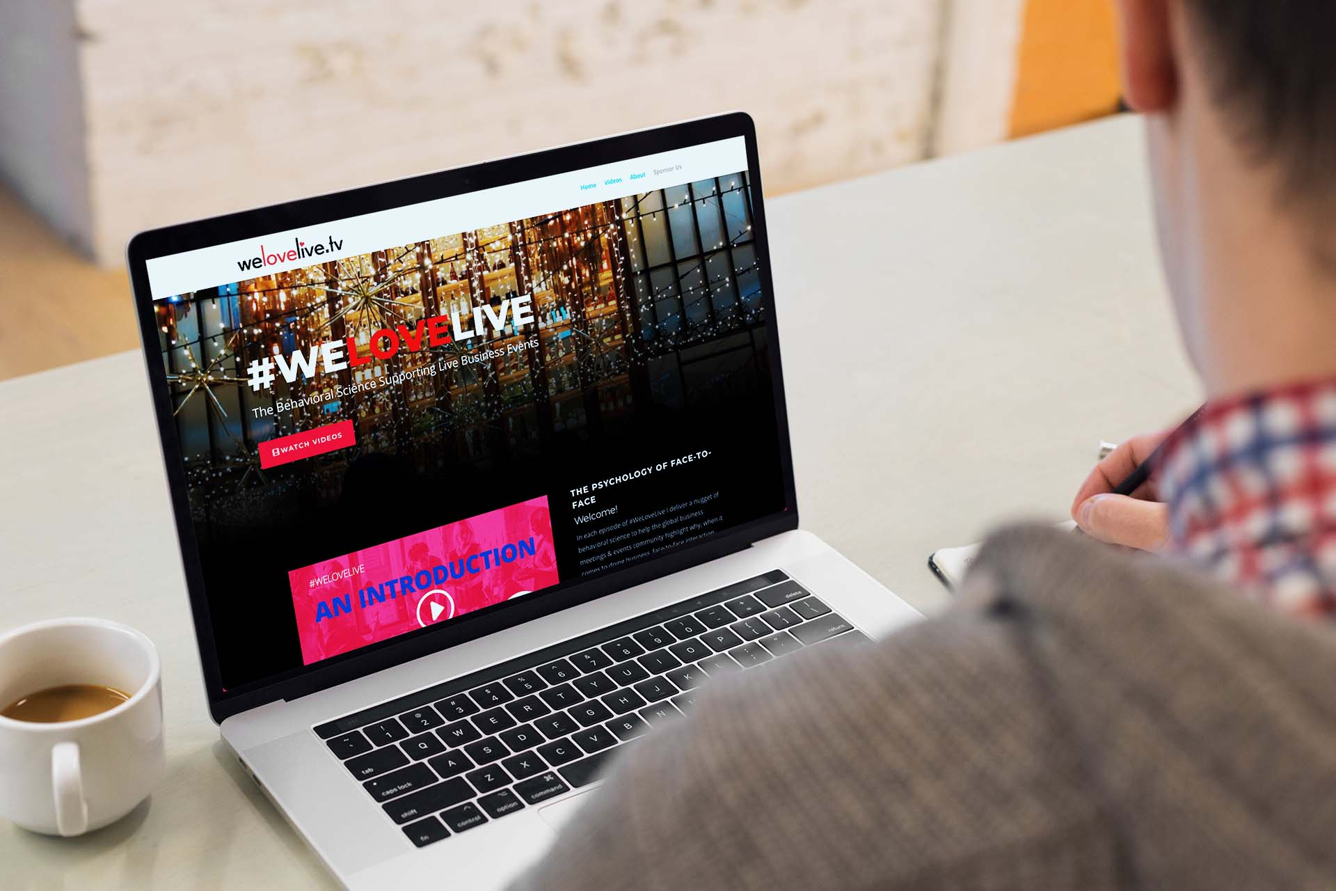 welovelive.tv web design project